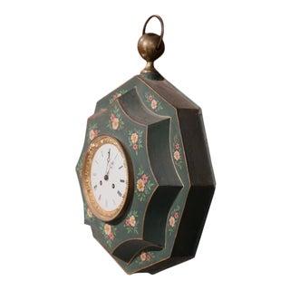 19th Century French Napoleon III Tole Wall Clock