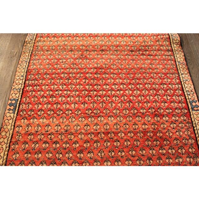 "Vintage Red & Orange Persian Rug - 3'6"" X 6'10"" - Image 3 of 4"