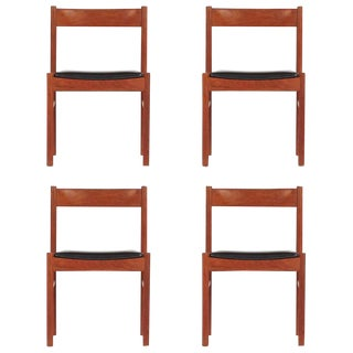 1960s Vintage Grete Jalk Style Teak Danish Modern Chairs - Set of 4