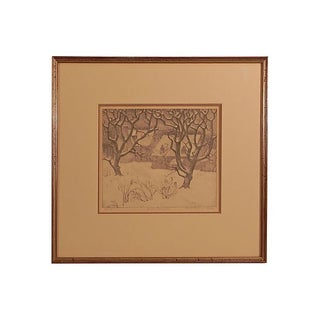 Gentle December Lithograph by Ella Fillmore