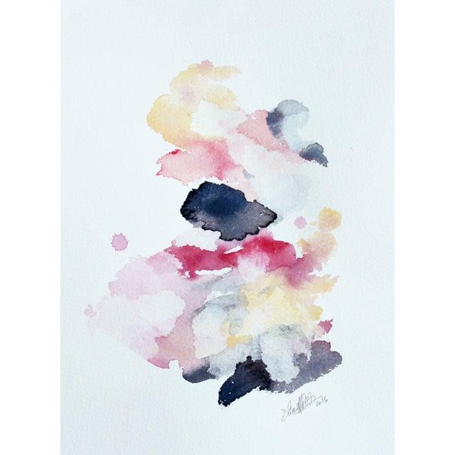 "Ellen Sherman ""Color Study 3"" Watercolor Painting - Image 1 of 4"