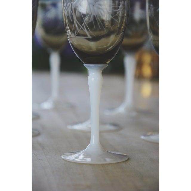 Vintage Smoke Grey Goblets - Set of 9 - Image 7 of 9