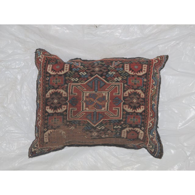 Leon Banilivi Pillow, Antique Persian Rug Fragment - Image 2 of 4