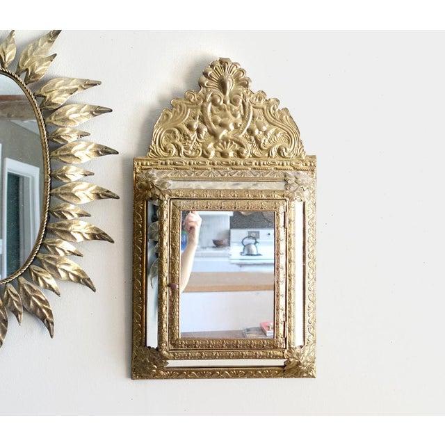 Vintage Brass Cabinet Mirror - Image 7 of 7