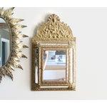 Image of Vintage Brass Cabinet Mirror