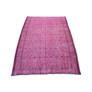 "5'9"" X 9' Turkish Handmade Pink Overdyed Rug"