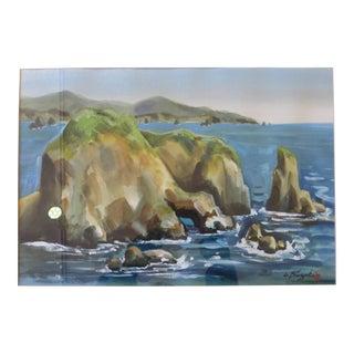 Ocean & Coast Watercolor Painting