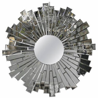 Beveled Round Sunburst Mirror
