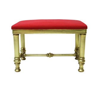 Gilded Drexel Vanity Bench
