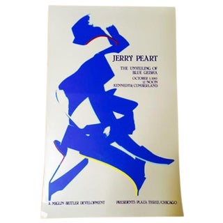 Jerry Peart Blue Geisha Abstract Sculpture Poster
