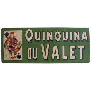 Original Vintage French Poster 1900 Quinquina du Valet