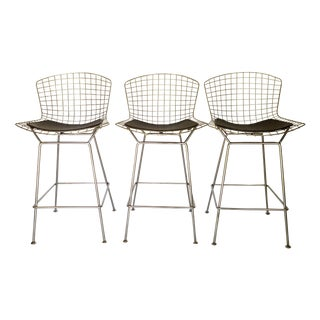 Bertoia Style Bar Stools - Set of 3