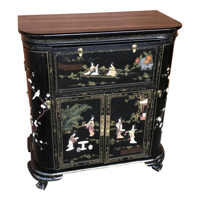 Lacquer and Inlay Hardstone Chinese Dry Bar - Image 1 of 8