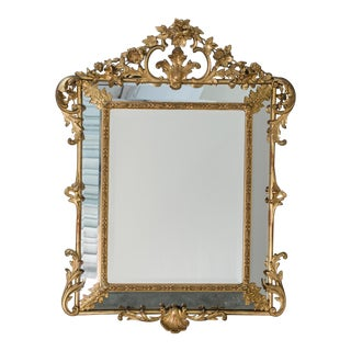 Antique French Régence Style Pareclose Mirror circa 1885