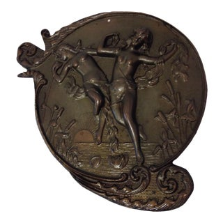 Antique Bronze Art Nouveau Wall Hanging
