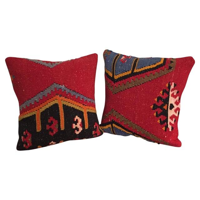 Image of Vintage Kilim Throw Pillows - One Left