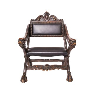 Early 20th Century Carved Russian Child's Chair