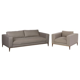 Elite Leather Modern Sofa & Chair Set