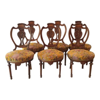 Louis XVI French Dining Chairs - Set of 6