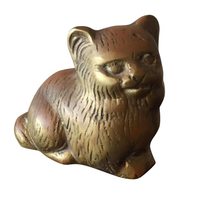 Small Brass Kitty - Image 1 of 6