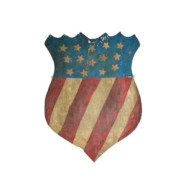 Vintage Hand-Crafted Patriotic Plaster Crest - Image 1 of 4