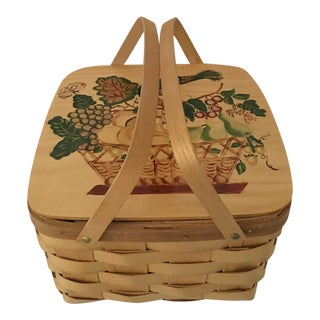 Hand Painted Vermont Picnic Basket