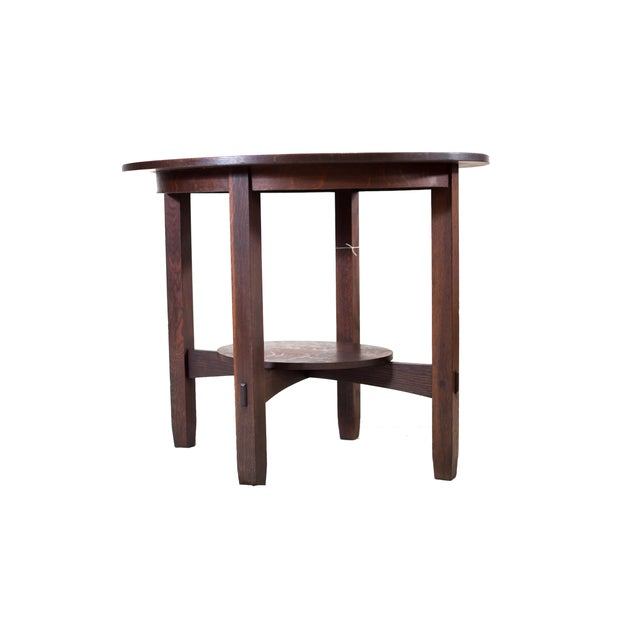 Stickley Brothers Large Oval Lamp Table - Image 2 of 3