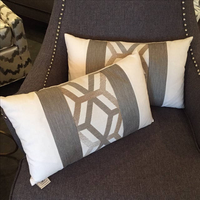 Elaine Smith Outdoor Kidney Pillows - A Pair - Image 5 of 5