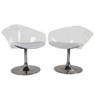 Chrome & Lucite Space Age Chairs - A Pair