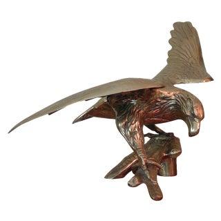 Mid-Century Brass Eagle Statue