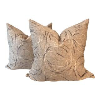 Wool Flannel Pillows - A Pair