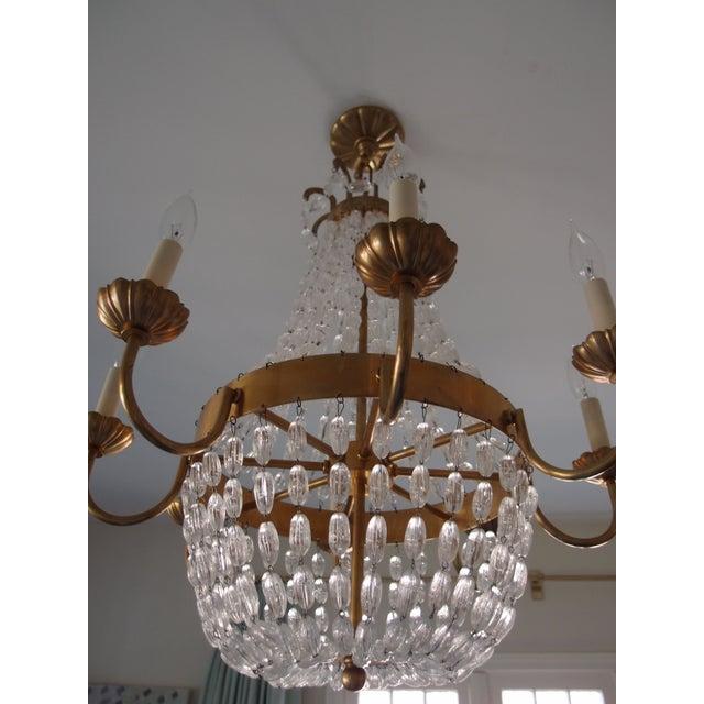 Visual Comfort Brass Chandelier - Image 2 of 7