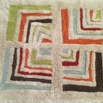 Image of Geometric Entry or Bathroom Rug - 1′11″ × 3′