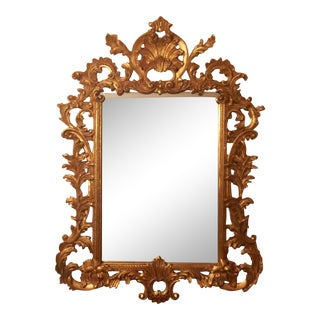 Gold Gilt Ornate Wood Wall Mirror