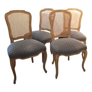 Queen Anne Caned Back Chairs - Set of 4