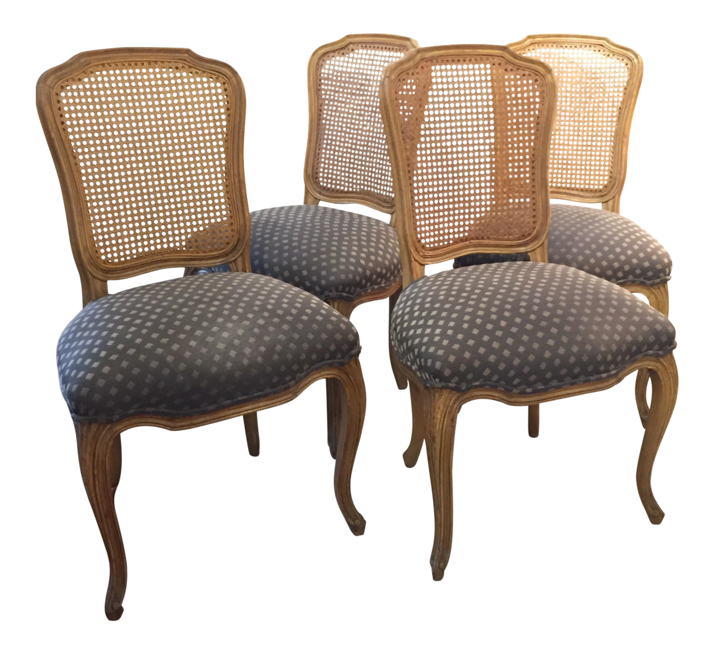 Queen Anne Caned Back Chairs   Set Of 4