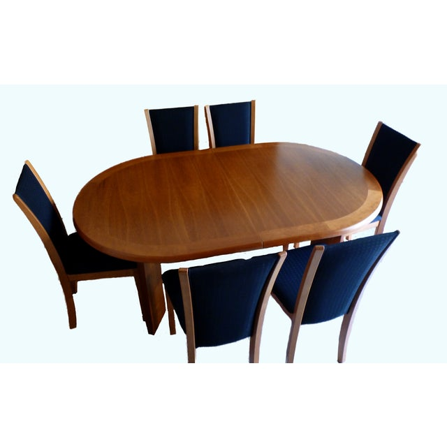 Image of Skovby Cherry & Black Dining Chairs - Set of 8