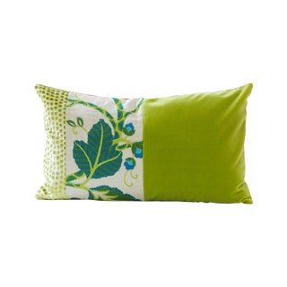 Designer Green Velvet Down Pillow