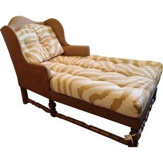 Wingback Chaise in Scalamandre Zebra