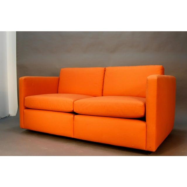 Knoll Pfister Love Seat Sofa In Sunbrella Fabric Chairish