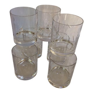 Vintage Baccarat Style Crystal Whiskey Tumblers - Set of 7