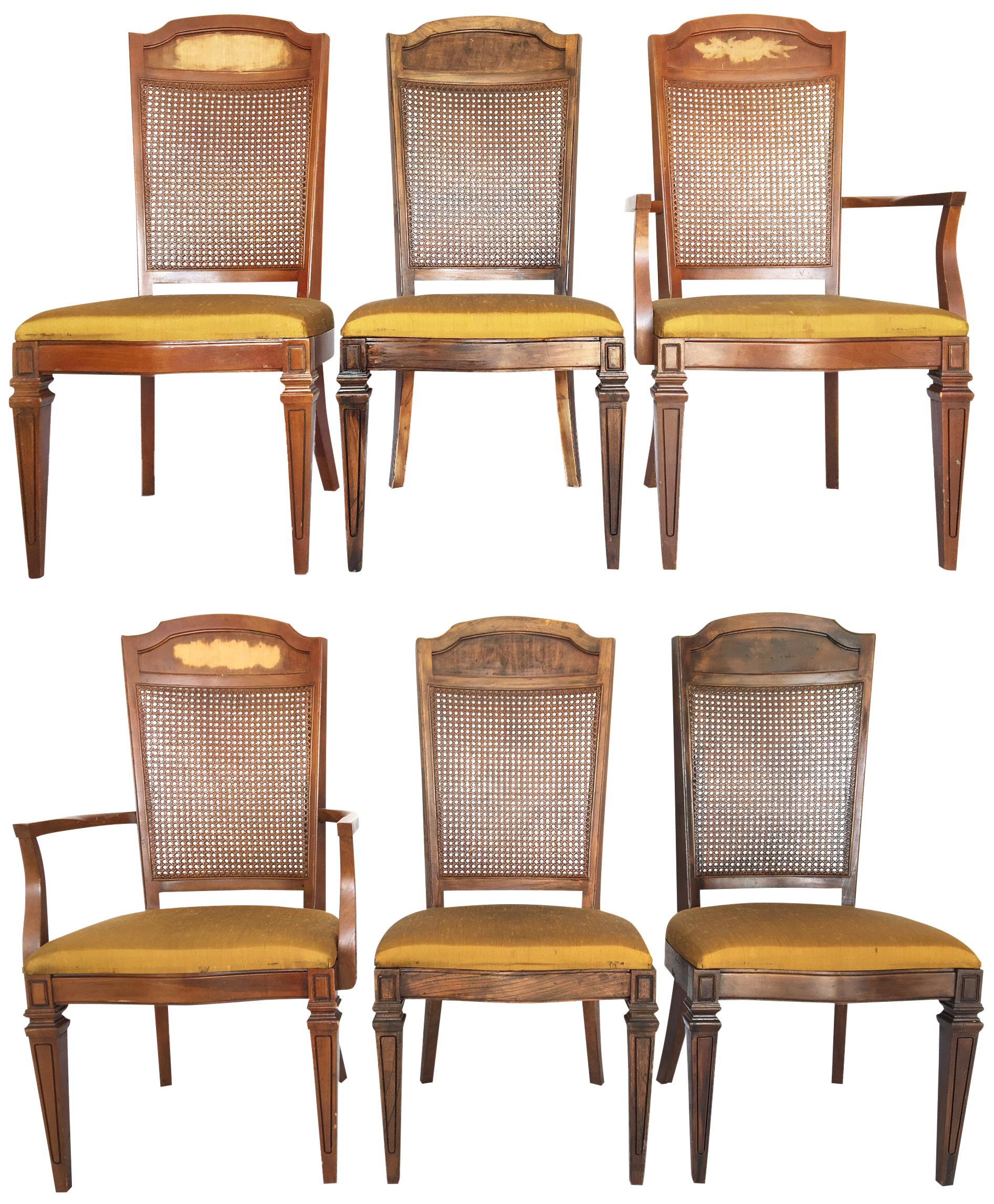 Century Furniture Hibriten Cane Back Dining Chairs Set of 6