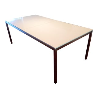 Room & Board Portica Table, Stainless Steel & Quartz
