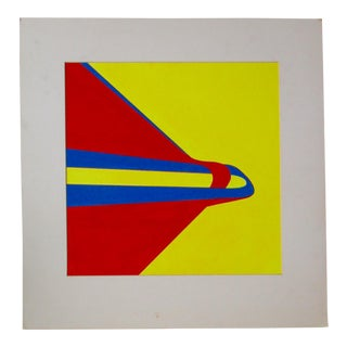 Abstract Birds Geometric Acrylic Painting