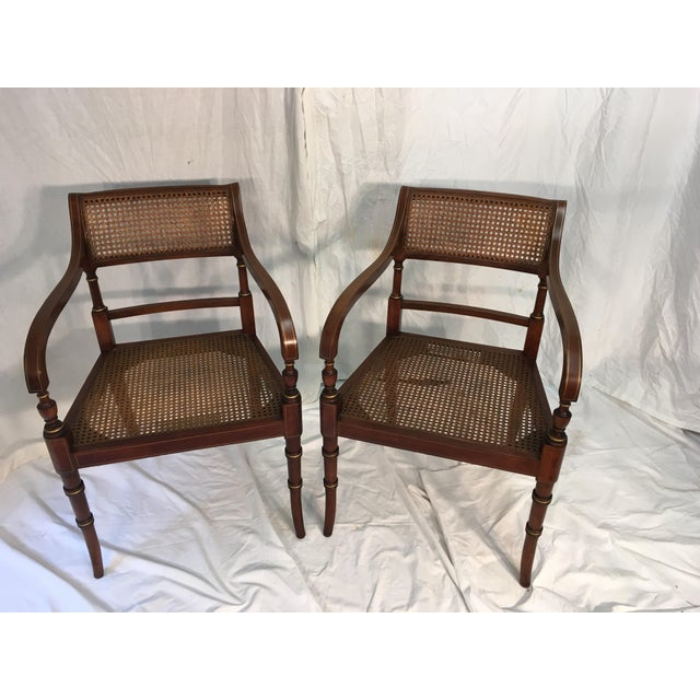 Kindel Regency Style Armchairs - A Pair - Image 7 of 7