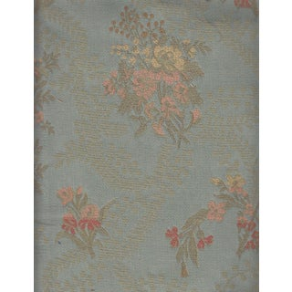 French Floral Jacquard in Blue & Gold Fabric - 6 Yards
