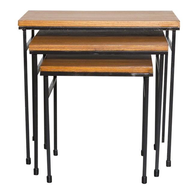 Teak Nesting Side Tables - Set of 3 - Image 1 of 9
