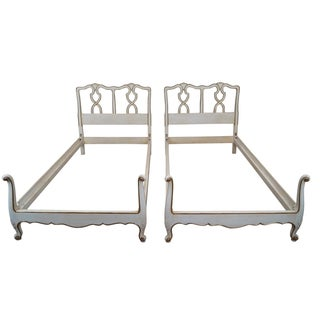 Kindel French Louis XV Twin Beds - A Pair