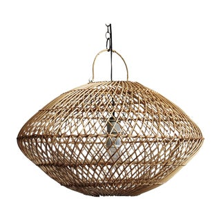 Wicker Basket Lantern Pendant