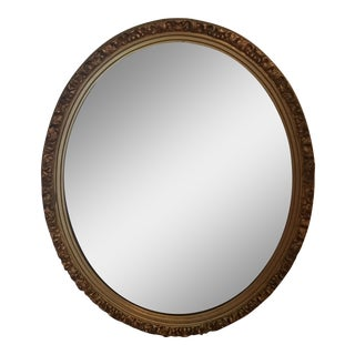 Oval Gilded Mirror